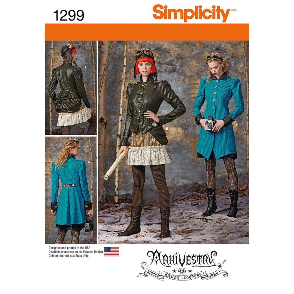 Schnittmuster - Simplicity - Mantel, Jacke 7807 | Pinterest | Mäntel ...