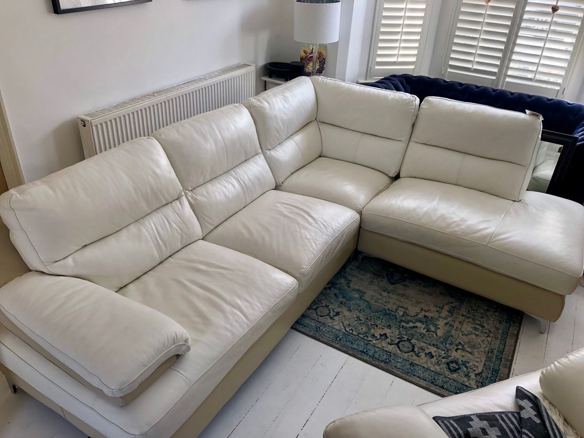 Cream Leather Corner Sofa Dfs Di 2020
