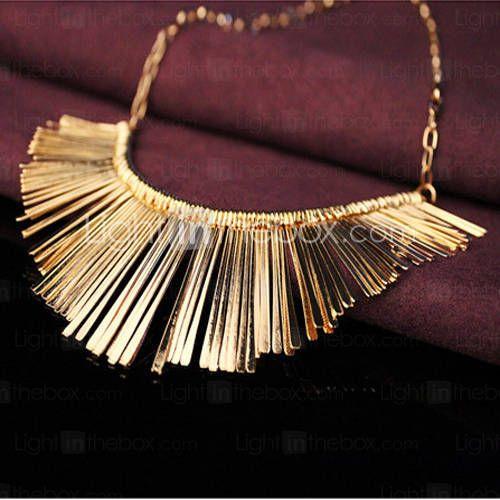 colar de pingente de ouro curta