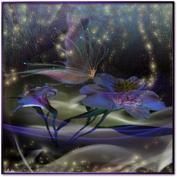 Magic Flowers by reluna on Polyvore featuring art