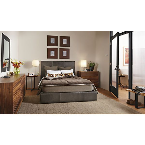 Wyatt Leather Bed Modern Contemporary Beds Modern Bedroom Furniture Leather Bedroom Modern Bedroom Furniture Modern Bed