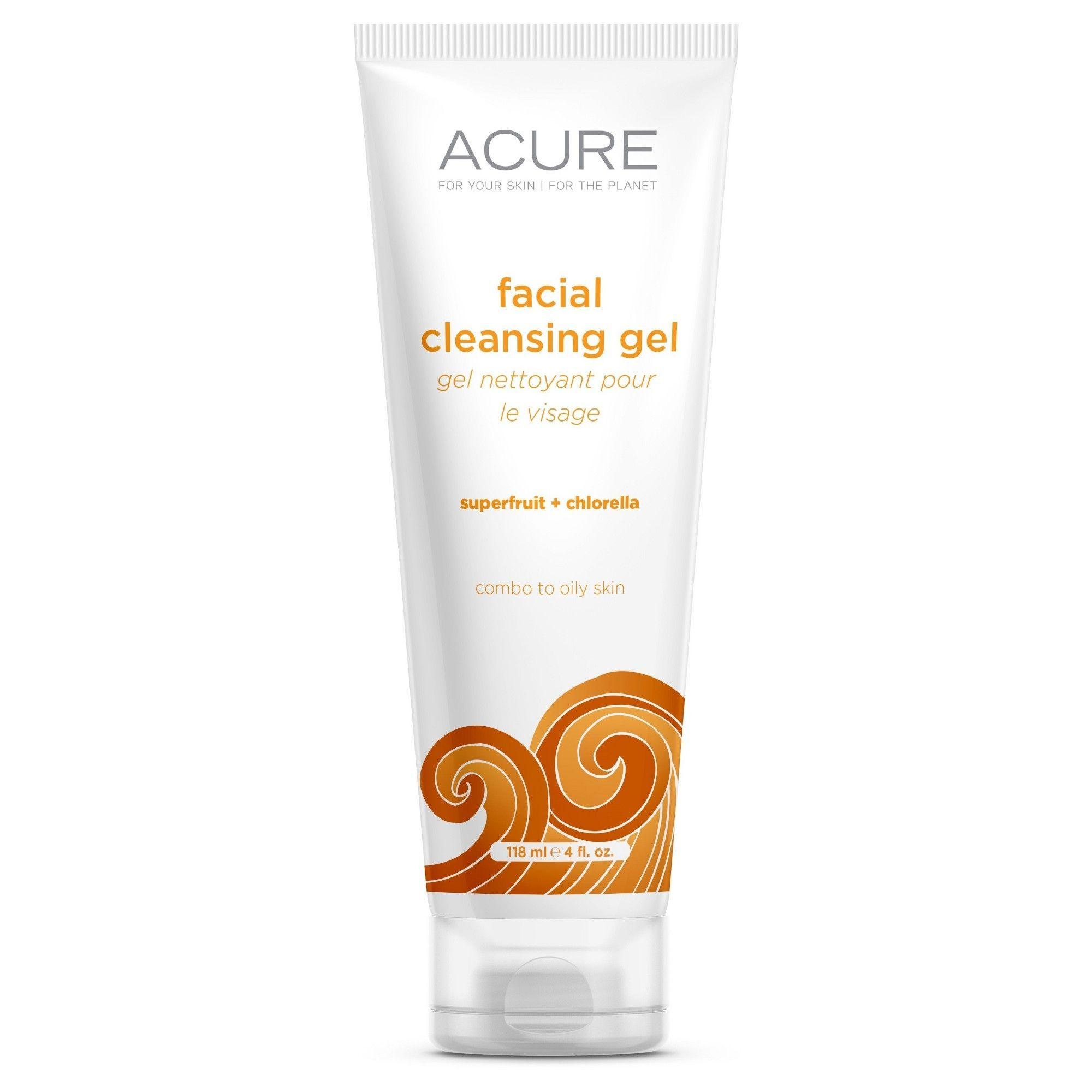 Acure Brightening Cleansing Gel - 4 Fl Oz