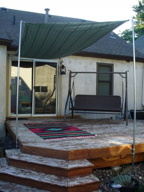 Diy Sun Shade For Your Patio Or Terrace Diy Pinterest