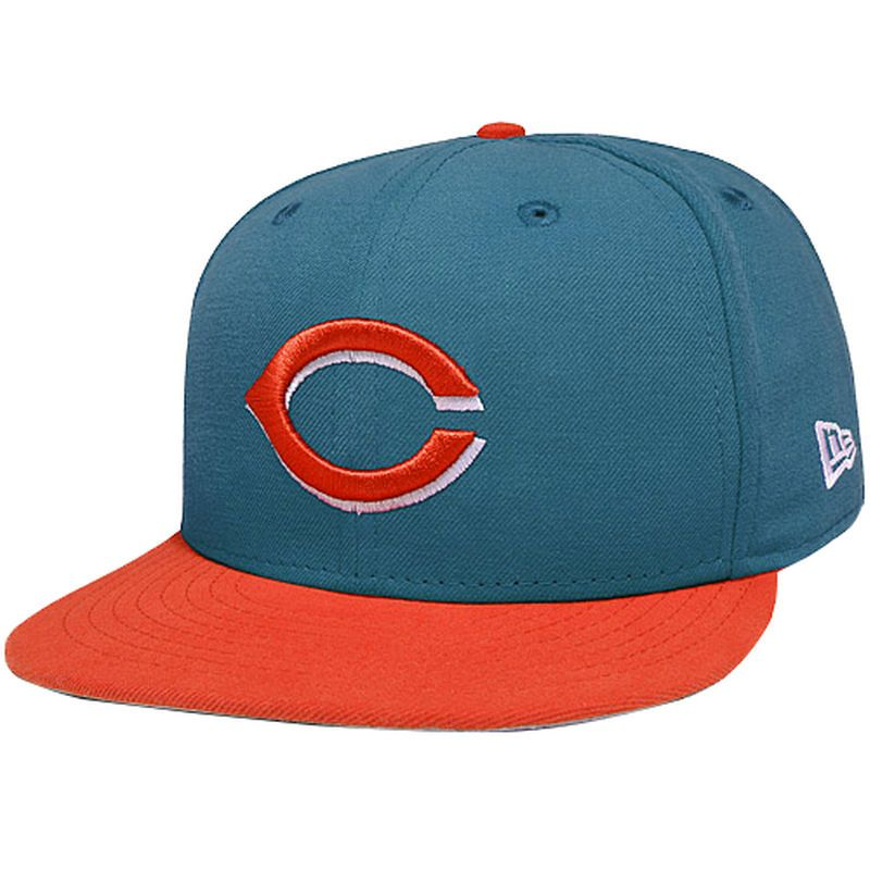 factory authentic 973ee 3d033 Cincinnati Reds New Era 2-Tone Basic 59FIFTY Fitted Hat - Turquoise Orange