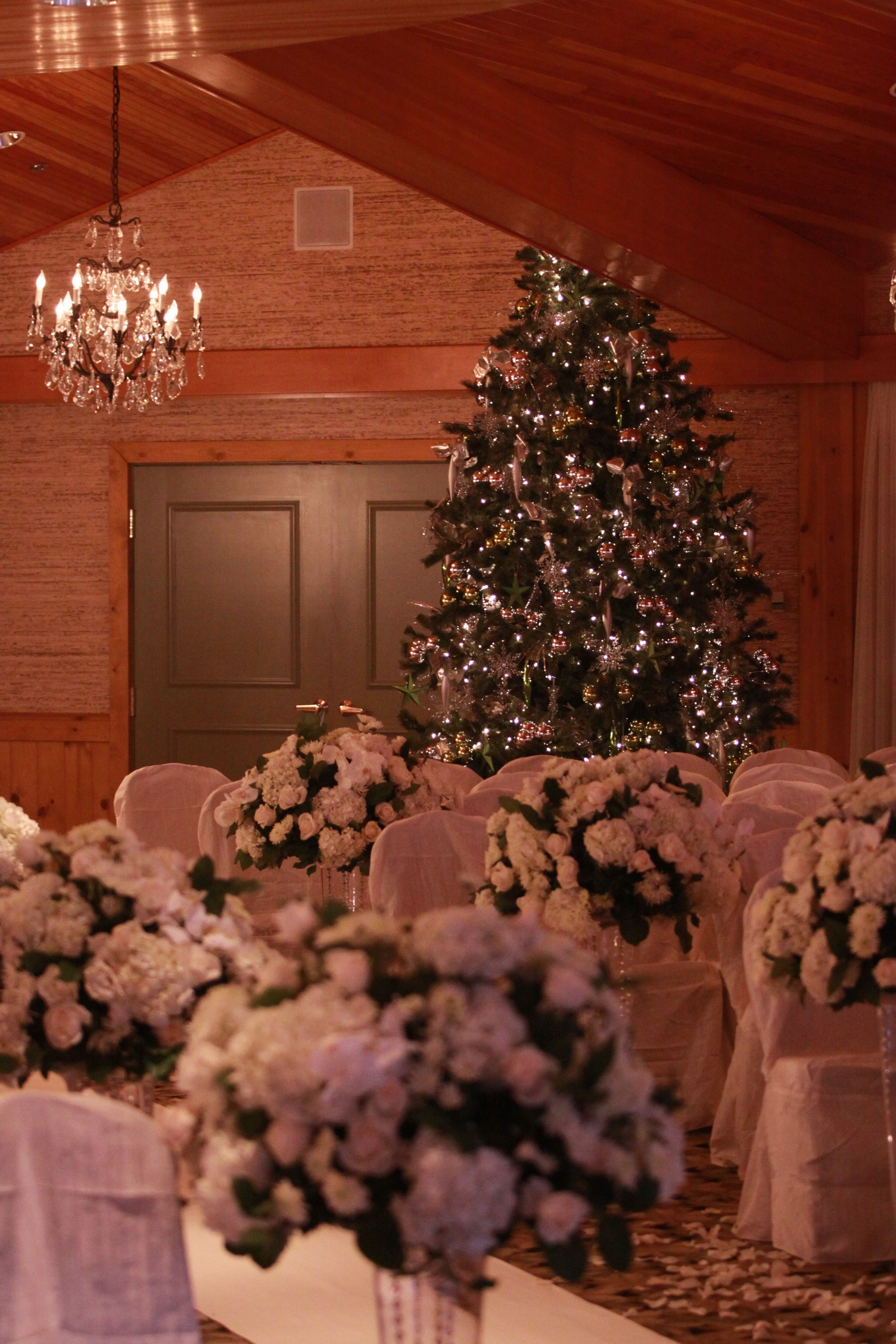 Christmas Themed Wedding At Edgewater By Aria Style Abe Cleary
