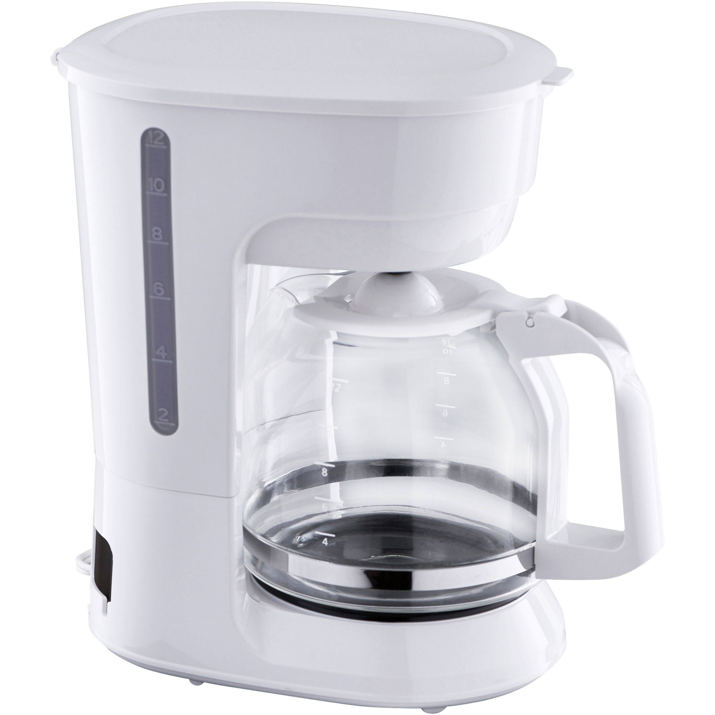 Mainstays 12 Cup White Coffee Maker with Removable Filter