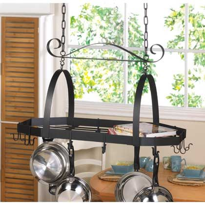 modern adjustable hook Kitchen Pot pan holder Rack Organizer hanging HANGER NEW