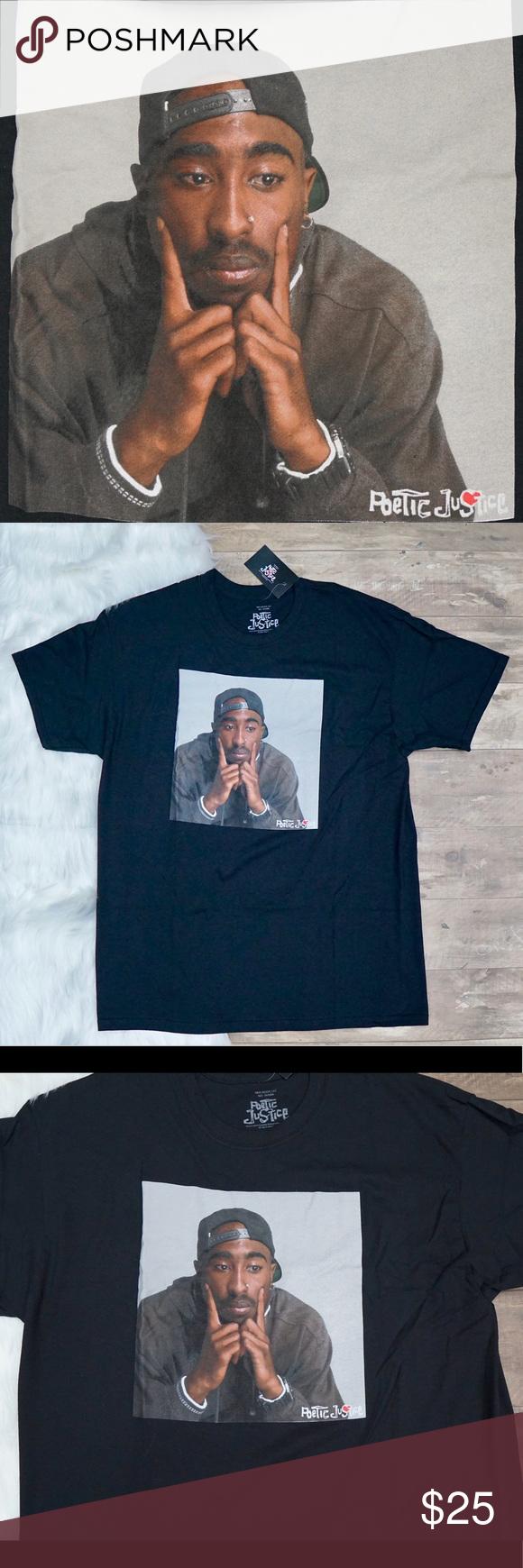 2pac Tupac Shakur Poetic Justice T Shirt Justice Tshirts Poetic Justice T Shirt