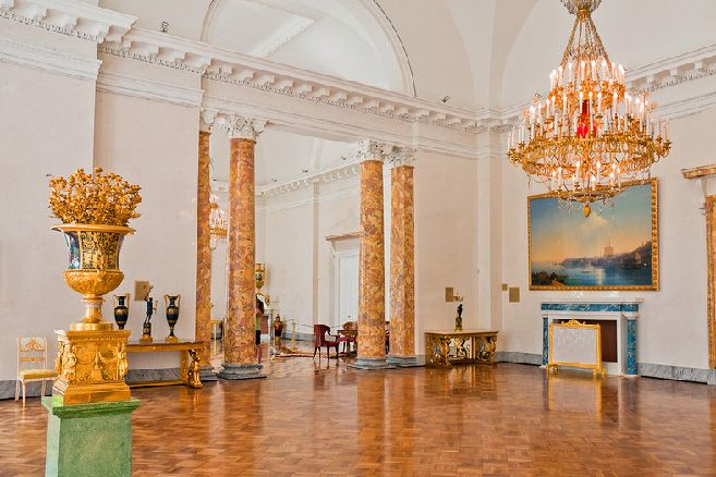 Splendid interiors of Alexander Palace in Tsarskoye Selo (Pushkin), south of St Petersburg, Russia