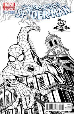 Amazing Spider Man 1 B W Kevin Nowlan Exclusive Cover Spiderman Comic Newbury Comics Amazing Spider
