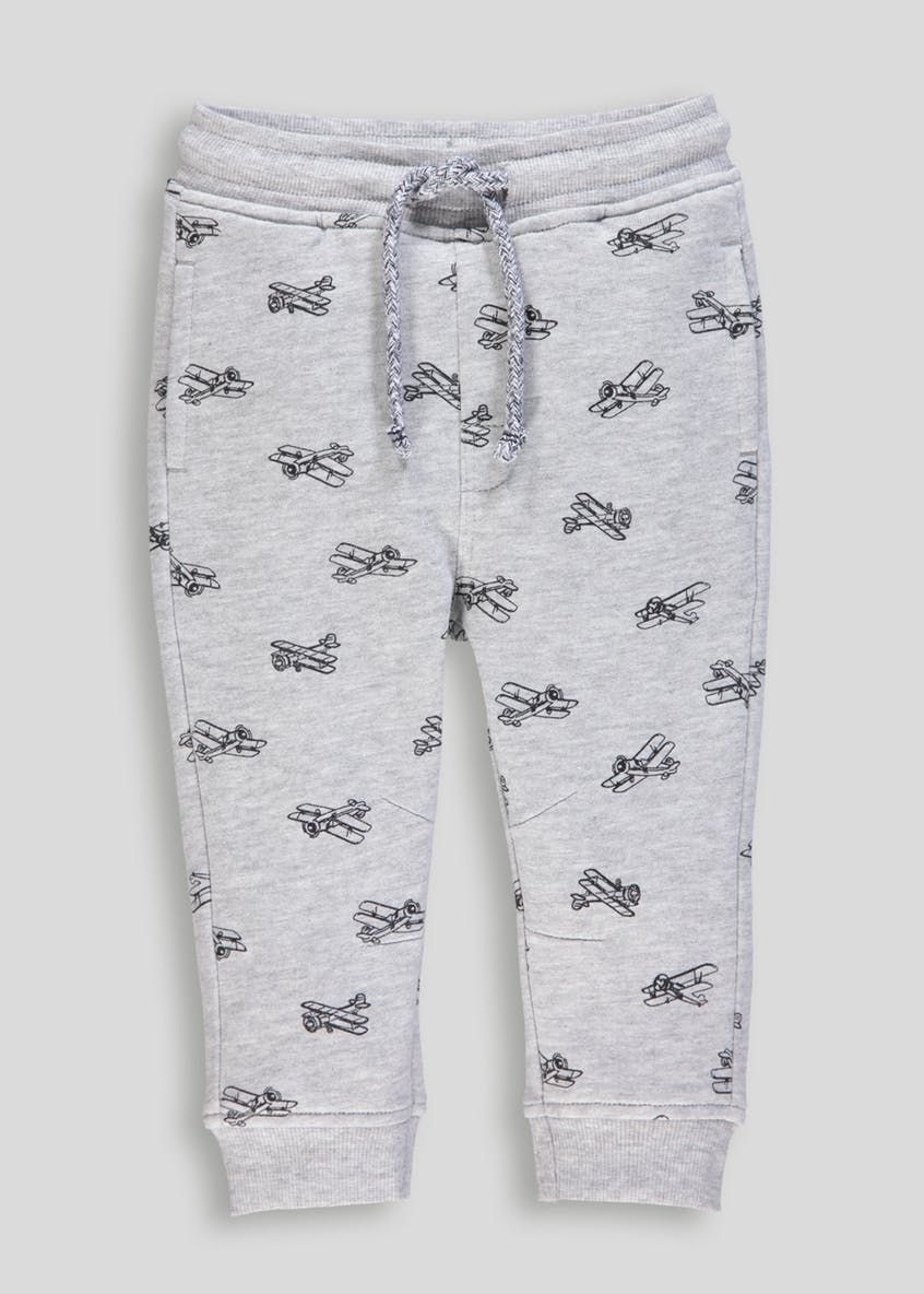 2pc Boys Dinosaur White Long Sleeve T Shirt /& Grey Joggers Clothes Outfit 2-6yrs