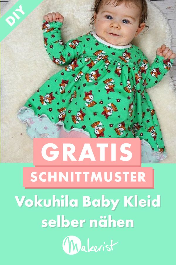 Photo of Süßes Babykleid selber nähen