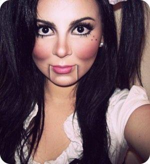 14 Ideas de maquillaje para lucir como una aterradora mueca