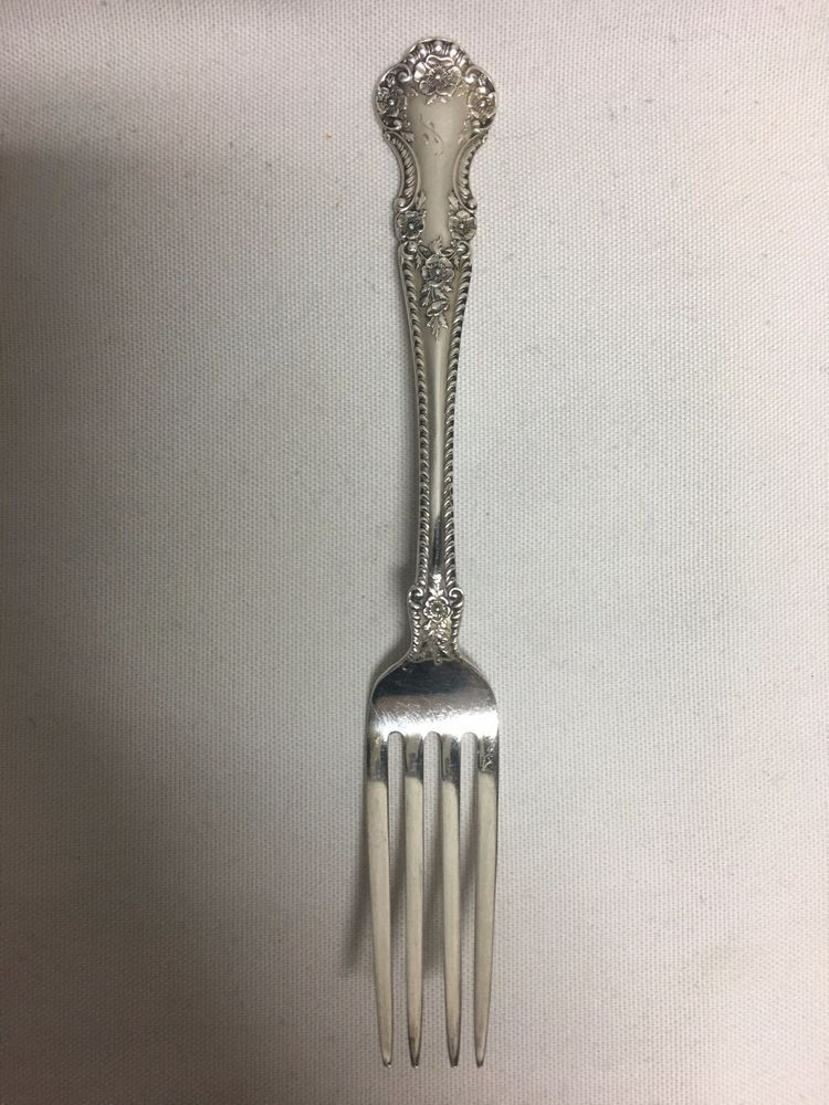 "51g Gorham Chantilly Sterling Silver Place Dinner Fork 7 1//2/"" No Mono"