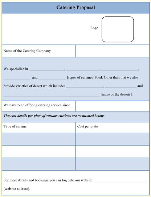 Free Catering Proposal Template Download Catering Proposal