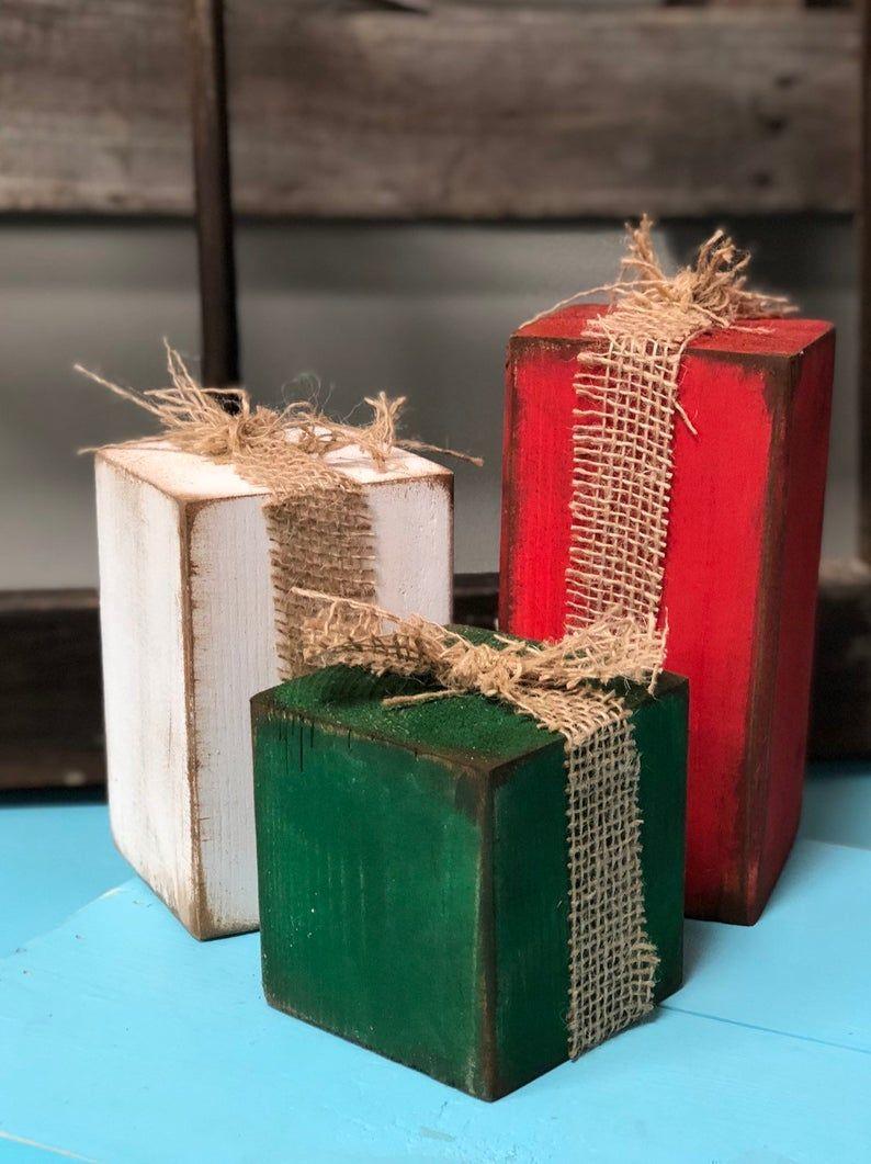 Diy Craft Kit Christmas Wooden Blocks