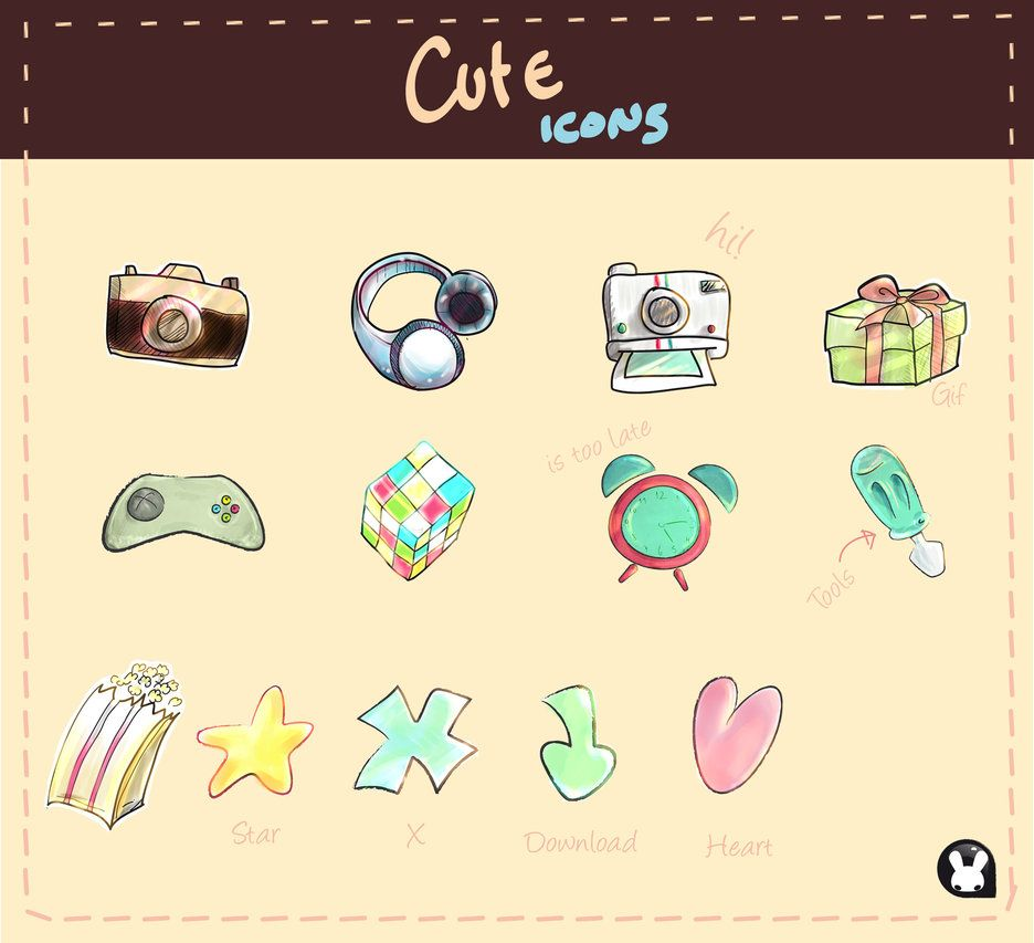 Cute Icons [] Icon Set [] by Yohana Tapia, Chile | Cute