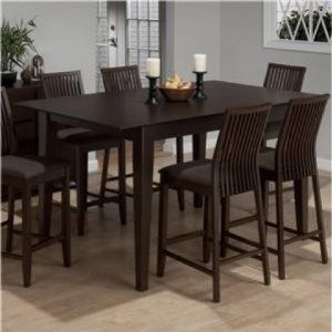 Amazon.com - Jofran Counter Height Rectangle Dining Table in Ryder ...