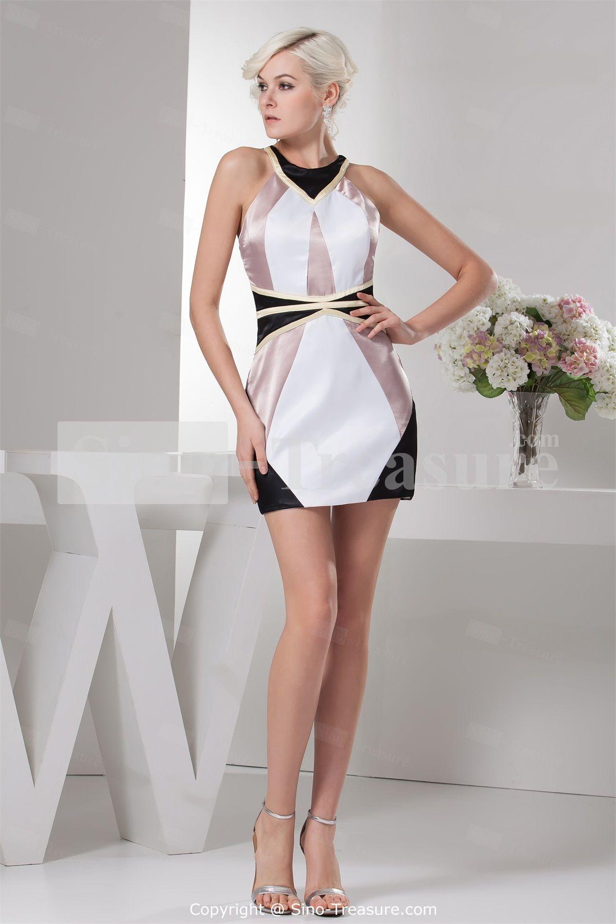 The Best Short Cocktail Dresses Designs : Sheath Column Straps Apple ...