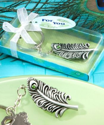 """Peacock Key Chain Favors - Wedding Party Favors - coupon code is """" freeshipping """""""
