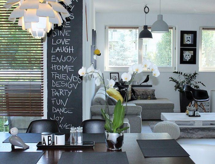 ▷ 1001 + idées comment adopter la peinture ardoise dans nos intérieurs - table de salle a manger grise