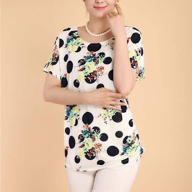 Summer style 2017 women casual blouses flor womens clothing plus size short sleeve floral blusas shirt women blouse shirts tops
