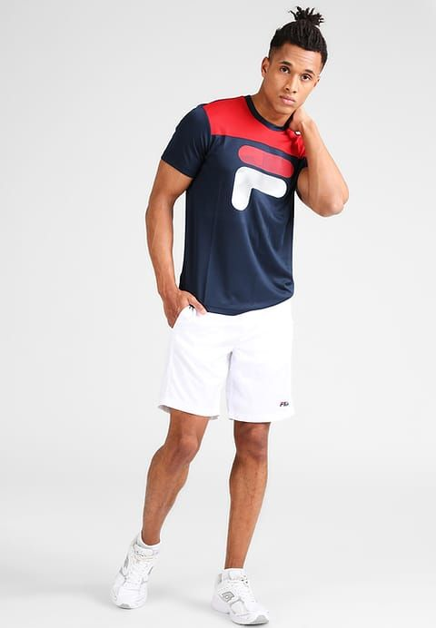 5cb2bf94dcd ... men's sports shirts & tops. Fila TIM - Print T-shirt - peacoat blue/fila  red for £28.99 (25/10/17) with free delivery at Zalando