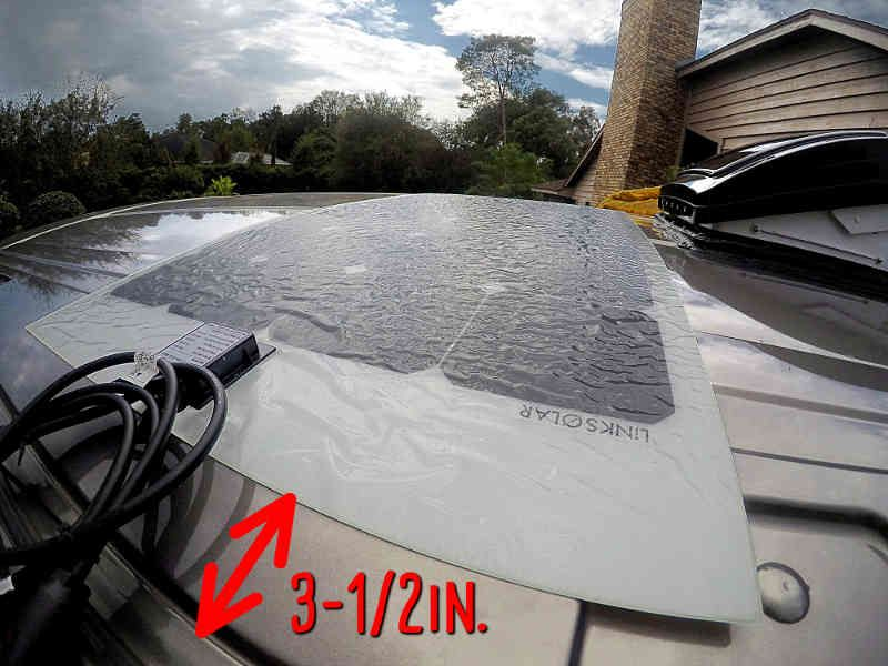 Fitted The New Flexible Solar Panel To The Roof Of The Ford Transit And Had 3 1 2 Inch Left To Accommodate The Cable Rv Solar Flexible Solar Panels Custom Vans