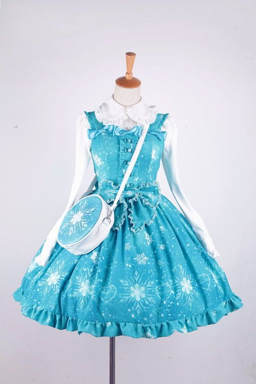 ★★★ Recommendation: Aiyo Lolita™ ❅☃♚Frozen Queen♚☃❅ Jumper Dress ★★★ IN STOCK, can be shipped out in 3-6 work days. ★★★ Only 2 dresses left >>> http://www.my-lolita-dress.com/frozen-queen-sweet-blue-lolita-jumper-dress-ay-2