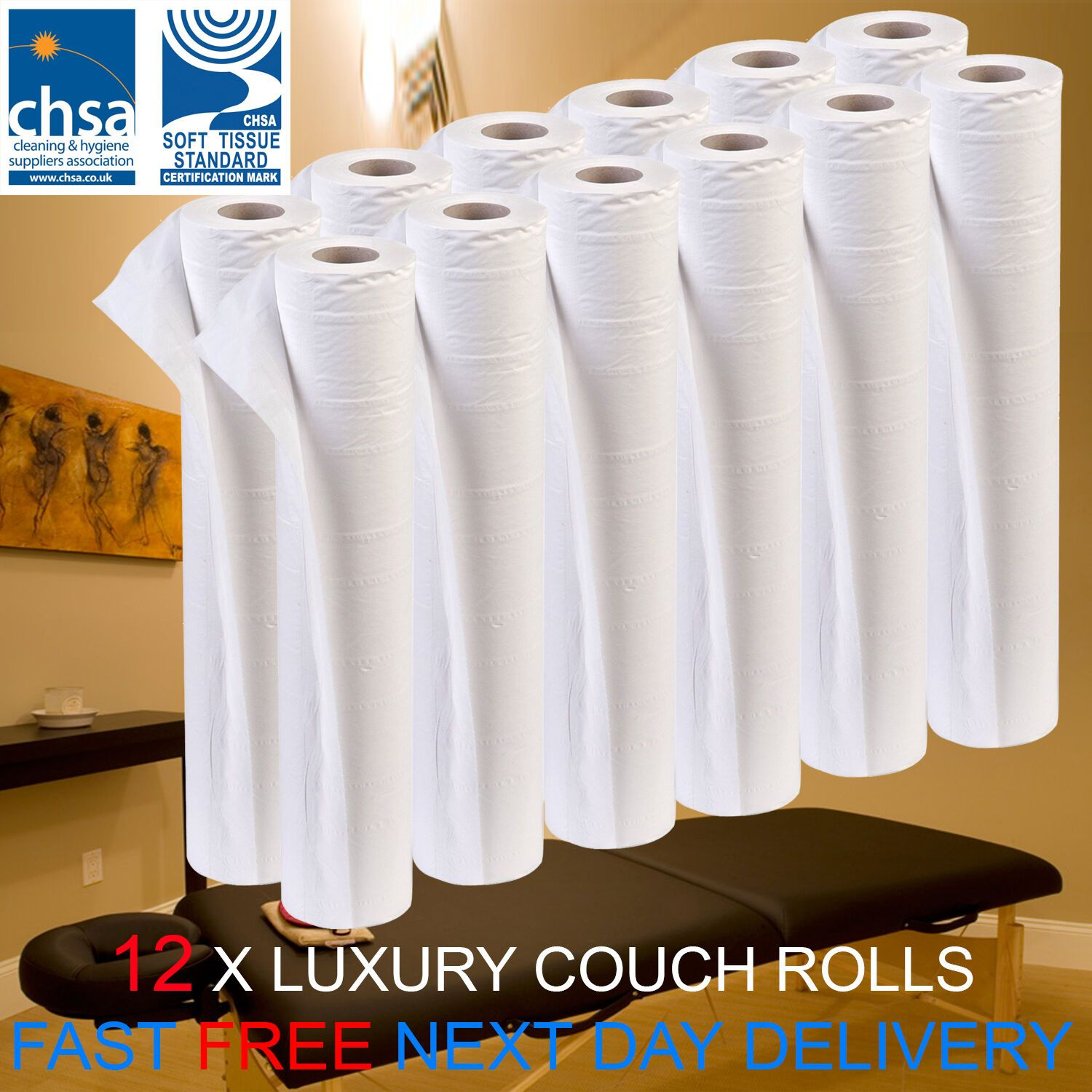 Fantastic Details About Luxury White 20 Couch Hygiene Roll 12 Roll Unemploymentrelief Wooden Chair Designs For Living Room Unemploymentrelieforg