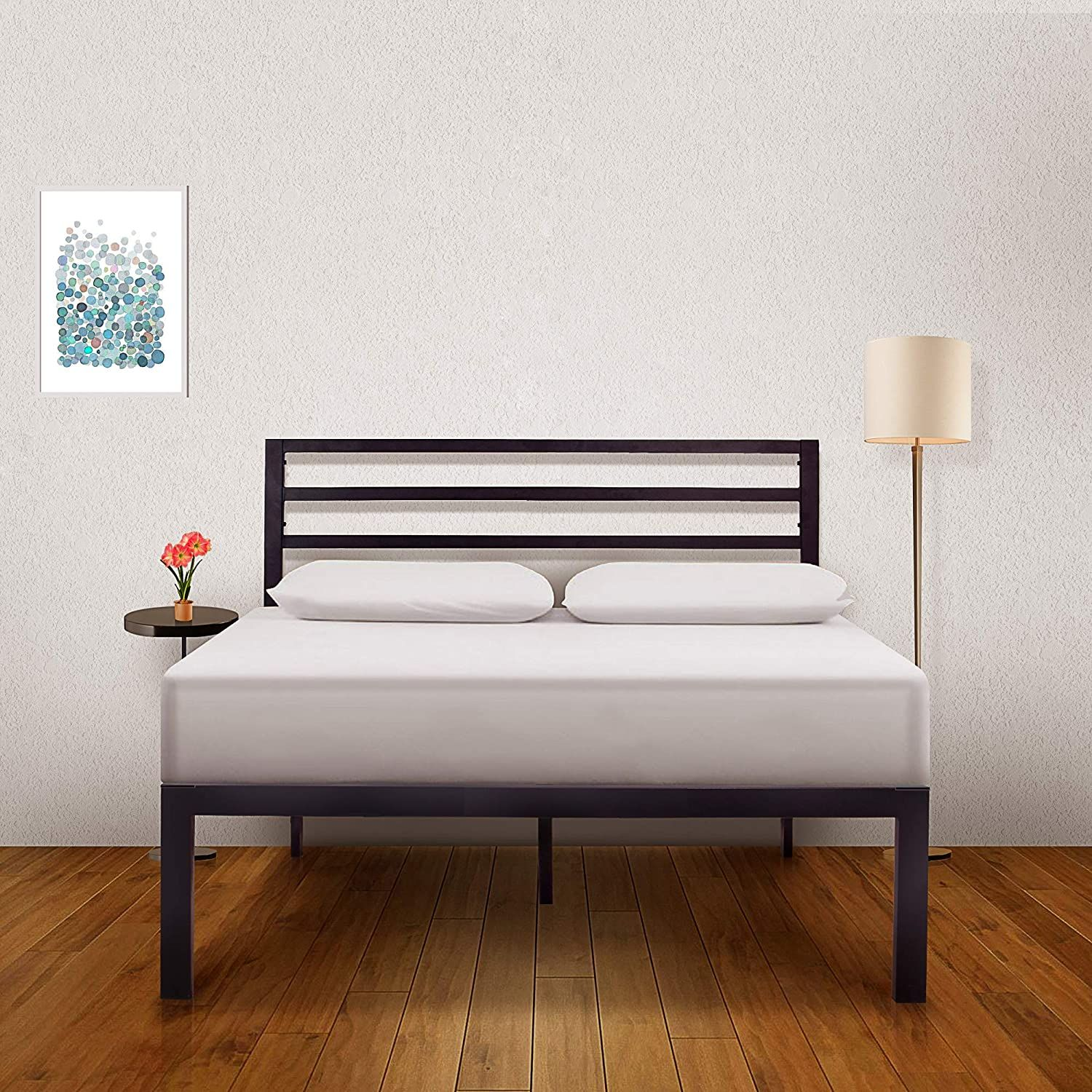AMBEE21 Bed Frame with Headboard 14 inch King Bed