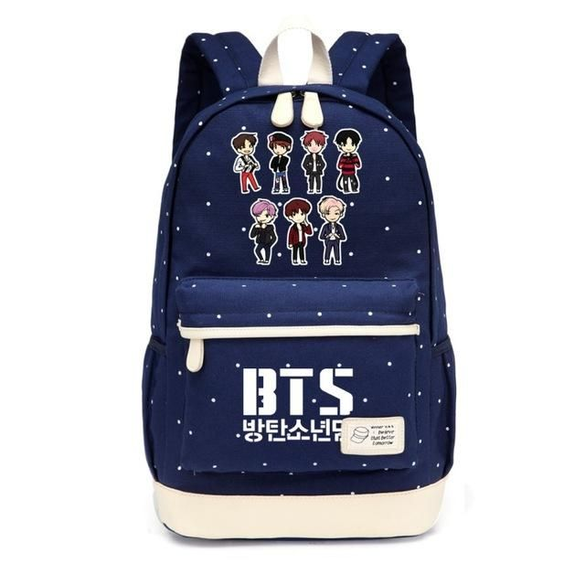 8ae2489bfca52 BTS Bangtan Boys K-Pop Backpack Book Bag Korean Music
