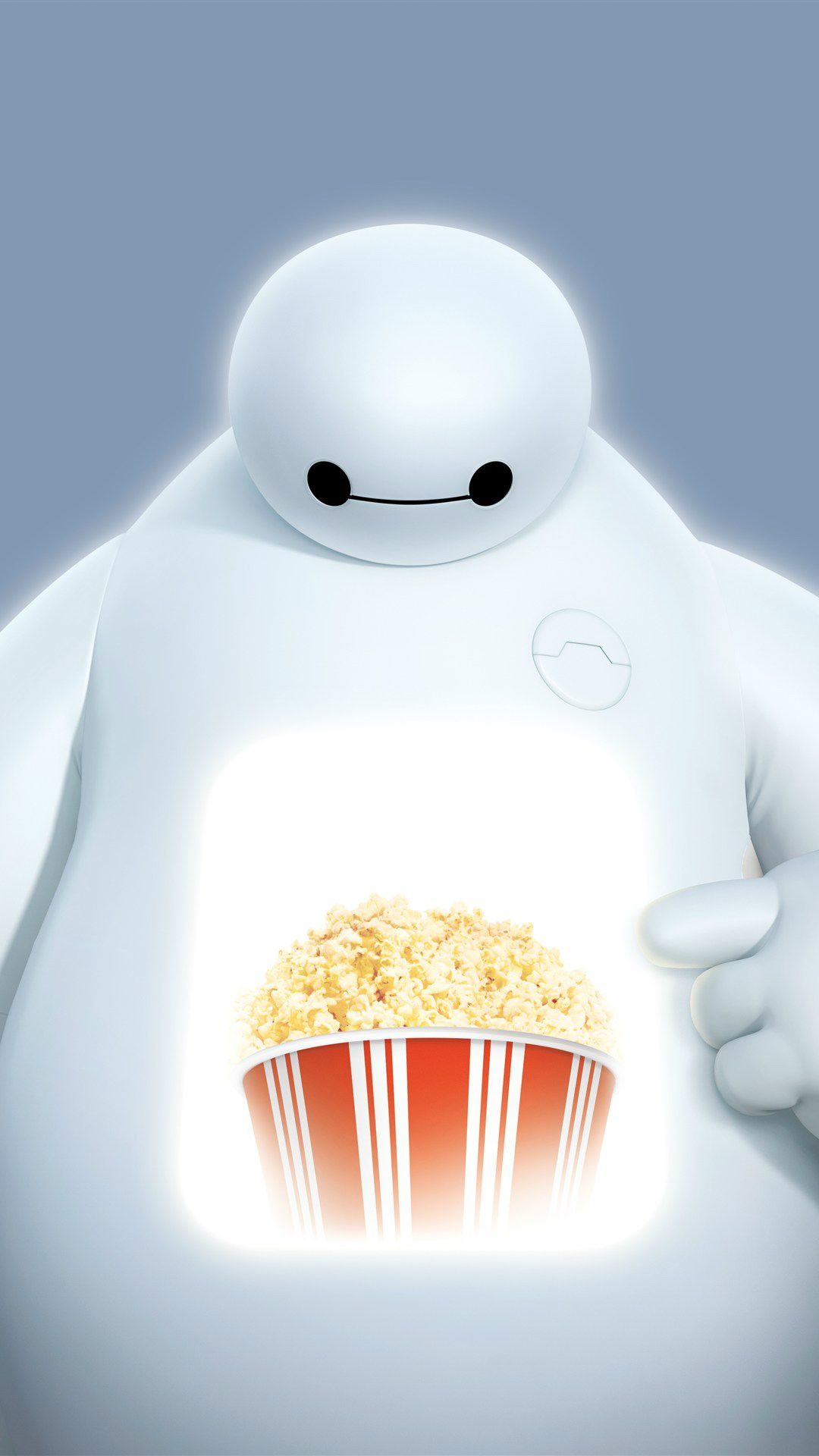 Big Hero 6 Baymax Popcorn Projection iPhone 8 Wallpapers