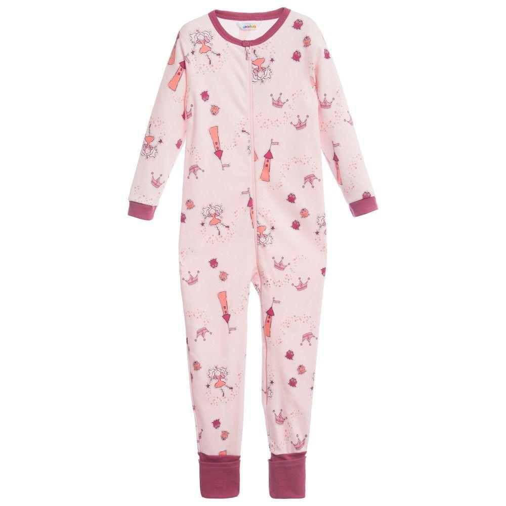 bb0e55622e Girls Pink Fairyland Cotton Onesie