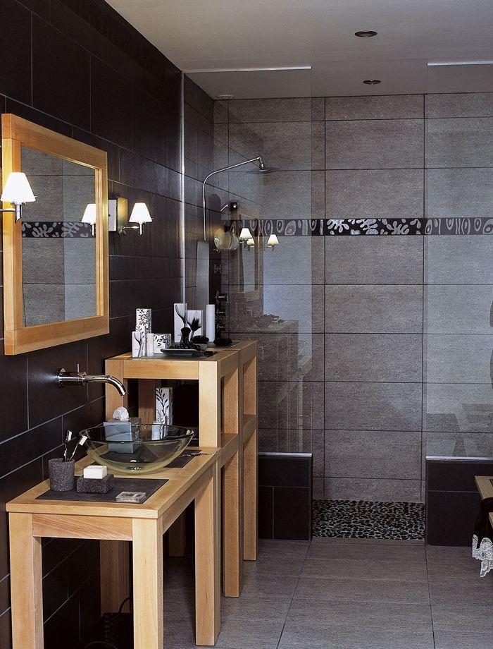 la salle de bains ose le noir - Salle De Bain Gris Bois