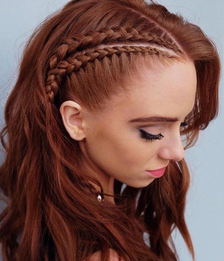 Side Braided Long Hair Redhead Hairstyles For Sultry And Sassy Look Braids For Long Hair Hair Styles Redhead Hairstyles