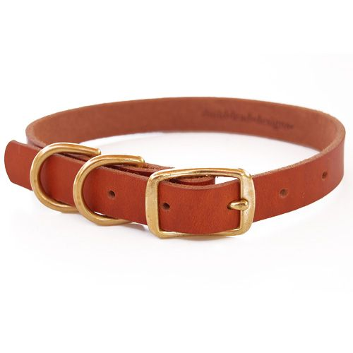 Bld S Double D Ring Leather Dog Collar Leather Dog Collars