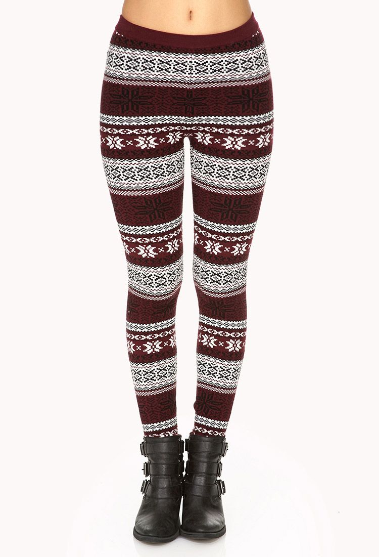 Plus Size Sweater Leggings