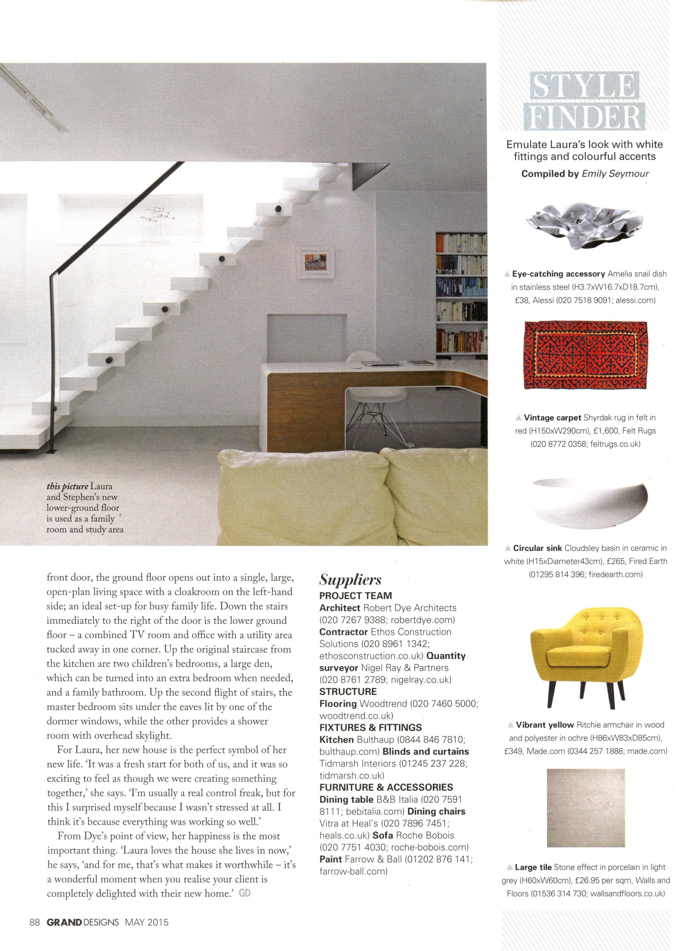 Style finder featuring a vintage Shyrdak rug from Felt feltrugs.co.uk Grand Designs May 2015