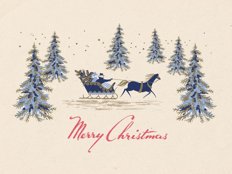 Christmas Card by Steve Wolf | Illustration | Pinterest | Steve wolf