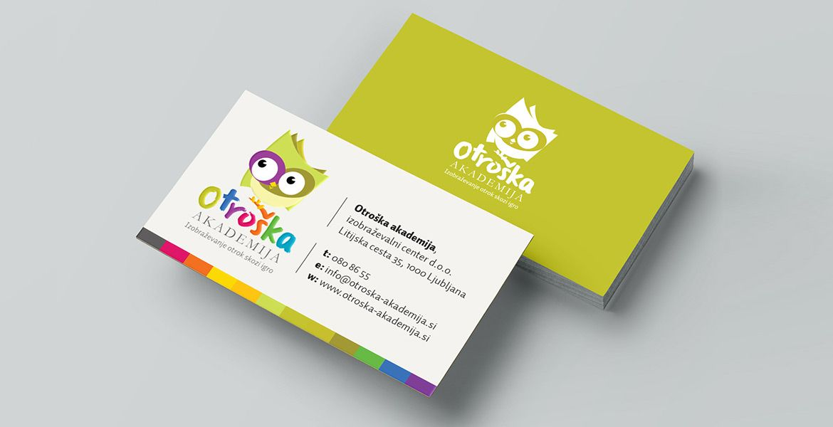 kids, owl, colors, business card | Portfolio - OUR BRAND IDENTITY ...