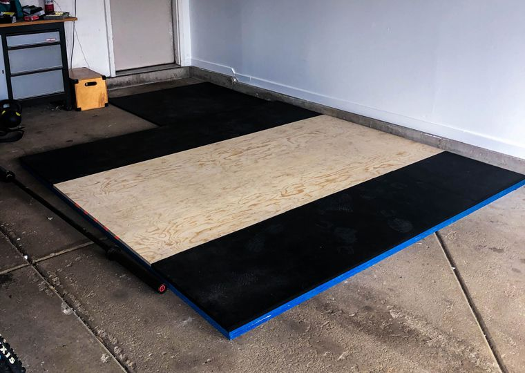 How To Build A Simple Diy Weightlifting Platform For Under 200 Simple Tools With No Handyman Skills Required Build The P In 2020 Squat Rack Diy Home Gym At Home Gym