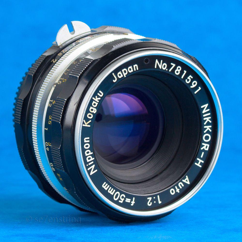 Nikkor H 50mm f2 Lens Nikon Non AI Fit DSLR Adaptable EOS MFT ...