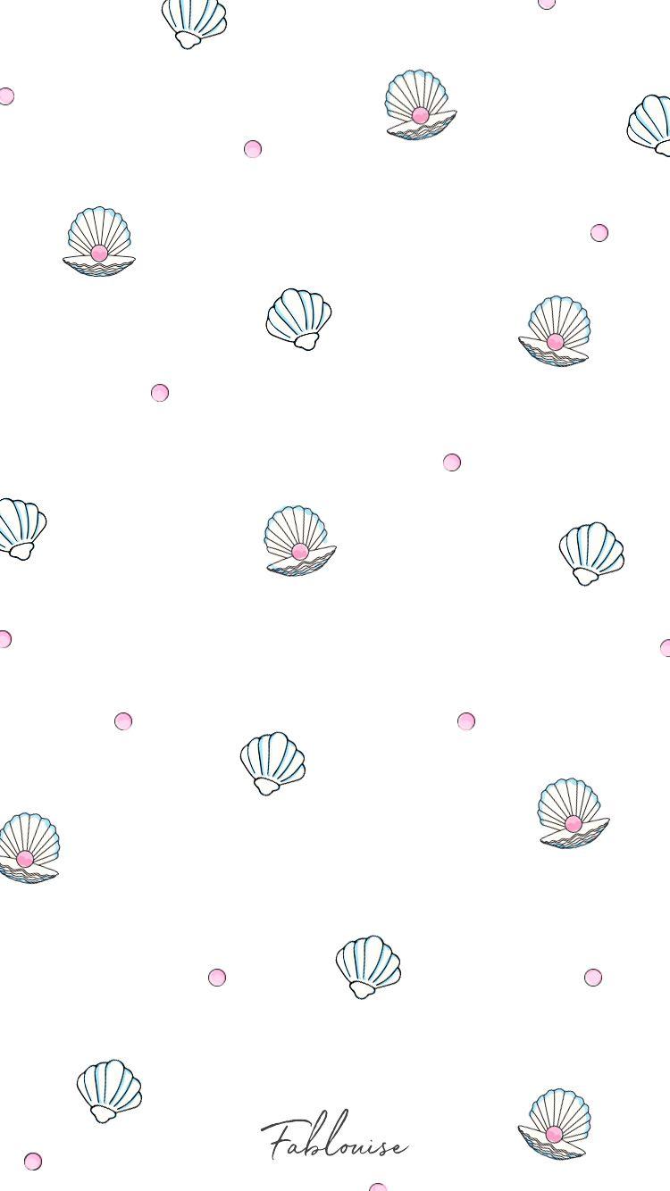 Shell & Pearl Wallpaper