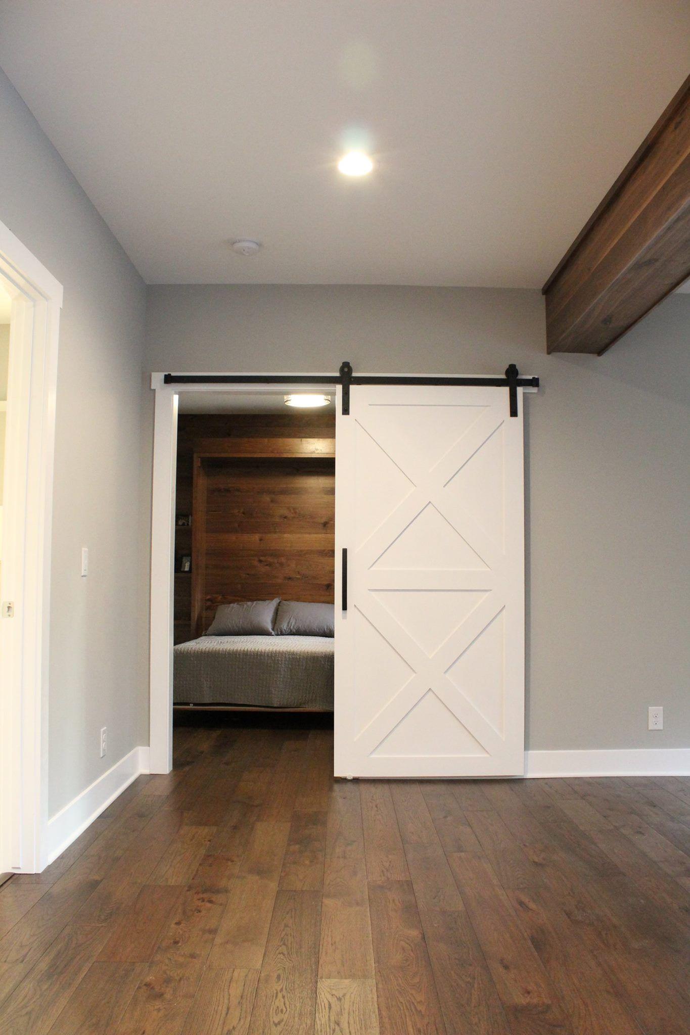 barn door for basement workout room Basement workout