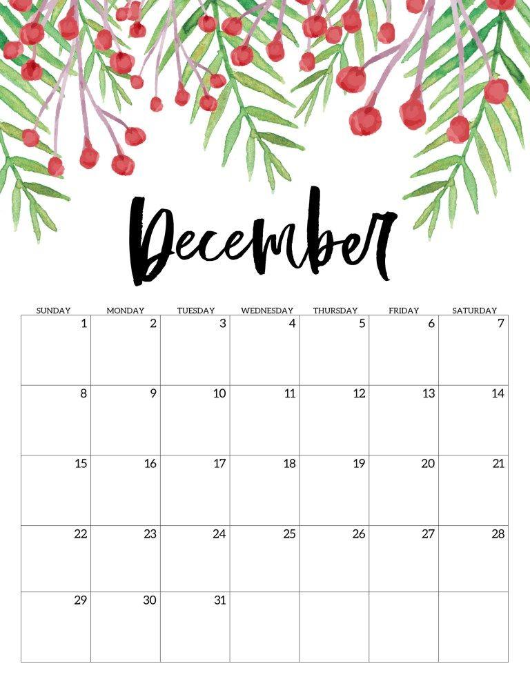 Free Printable Calendar 2019 - Floral | bullet journal ...