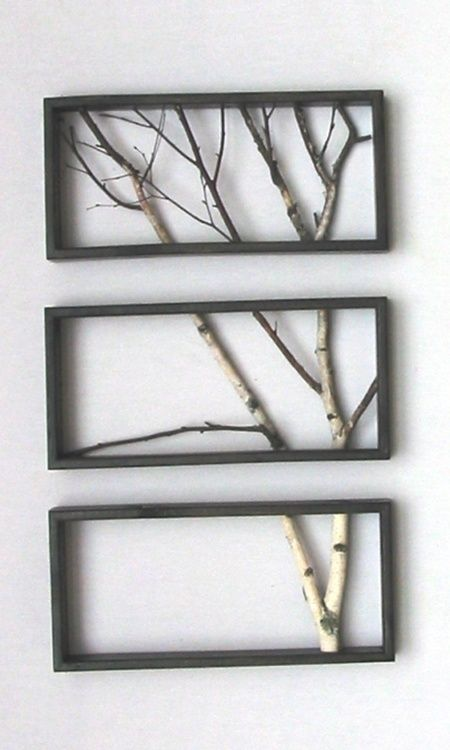 branches in frames--bringing the outdoors in   Creatief   Pinterest ...