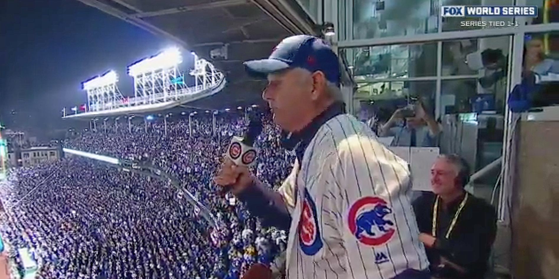 Watch Bill Murray's one-of-a-kind rendition of 'Take Me Out To The Ballgame' at Wrigley Field