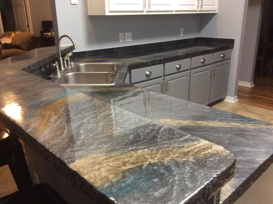 Epoxy countertops. in 2019 | Epoxy countertop, Custom ...