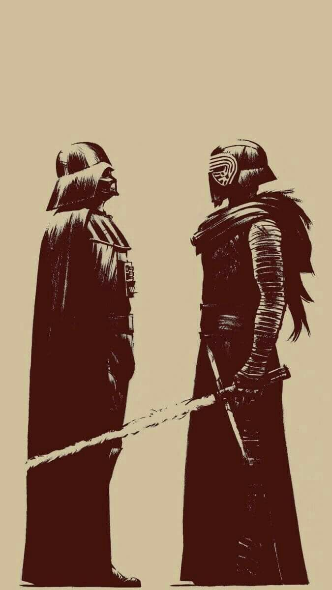 Anakin Is Shorter Than Ben But As Vader He S Over 2 Metres Tall So I Guess This Isn T Completely Accurate Vader Star Wars Star Wars Wallpaper Star Wars Art